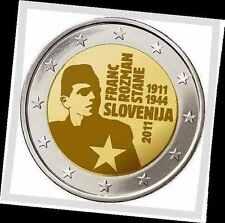 2 EURO *** Slovenië 2011 Slovénie - Franc Rozman Stane !!!