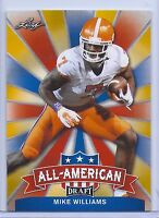 MIKE WILLIAMS 2017 LEAF DRAFT ALL-AMERICAN GOLD PARALLEL ROOKIE CARD INSERT!