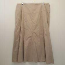 Gitano 20W Tan Skirt Panels Long Modest Church Aline Flared Full No Slits