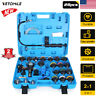 28PCS Radiator Coolant System Pressure Leak Tester Tool Detector Vacuum Pump Kit