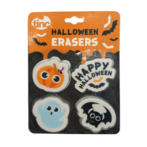 Tinc Halloween Novelty Kids Eraser Rubbers Stationery Spooky Gifts