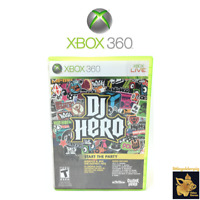 DJ Hero  (2009)  Activision Xbox 360 Video Game Case Manual Disc Tested Works A+