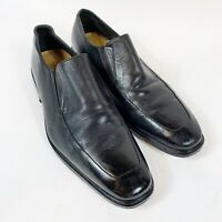COLE HAAN Black Leather Slip On Mens Size 10M C09422