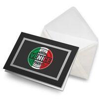 Greetings Card (Black) - Venice Italy Italian Flag Travel Birthday Gift #6108