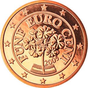 [#819196] Autriche, 5 Euro Cent, 2005, Vienna, FDC, Copper Plated Steel, KM:3084