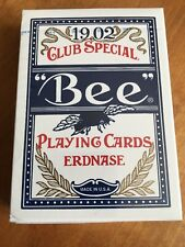 Bee Erdnase Blue Smith Back Playing Card Deck by CARC; Cambric Finish; New