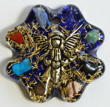Orgone pendant necklace - EMF protection, Tesla ,chakra + free orgonite gift