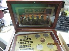 "Liberty ""V"" Nickel Set including Gold ""Rackateer"" Nickel with Wooden Display Box"