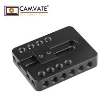 CAMVATE Camera Top Mounting Plate 1/4-20 Adapter for DSLR Canon 600D Nikon Sony