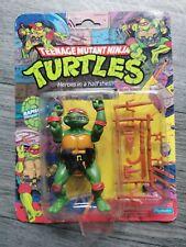 TEENAGE MUTANT NINJA TURTLES RAPHAEL 10 BACK FIGURE MOC - 1988 - PLAYMATES TMNT