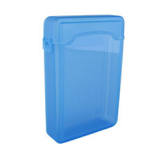 "Quality 3.5"" Plastic SATA HDD IDE Hard drive Storage Enclosure Box Case Blue 9H"