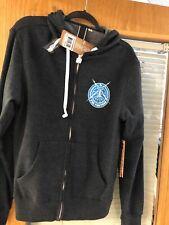 Foo fighters hooded Sweater size Med zipper hoodie (BUILT IN HEADPHONES)