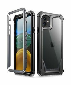 iPhone 11 Case, Poetic Full-Body Hybrid Shockproof Rugged Clear Bumper Cover,...