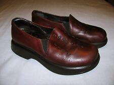 DANSKO Brown Leather Clogs Size 38 US 8