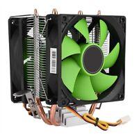 Dual Fan CPU Cooler Heatsink Mute for Intel LGA775/1156/1155 AMD AM2/AM2+/AM3 MS