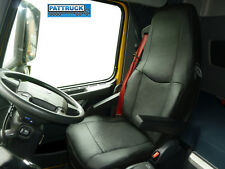 TRUCK SEAT COVERS  COMPATIBLE WITH VOLVO FH3 2008-2013  ECO LEATHER (BLACK)