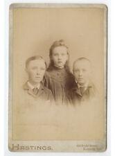 3 Look Alike Siblings, Davenport, Iowa, Cab Card By Hastings, Graphic Back