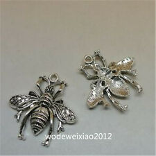 8pc Retro Tibetan Silver bees Charm Beads Pendant accessories  JP717