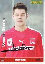 FOOTBALL carte joueur DOMINIK HASSLER équipe GRAZER AK signée