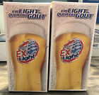 Molson Export Ex Light Beer Glasses set of 2 NEW    New in Box