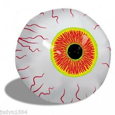 HALLOWEEN HORROR INFLATABLE EYEBALL PARTY HANGING PROP BEACH POOL EYE BALL 41CM