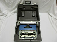Vintage Smith Corona Classic 12 Blue Portable Manual Typewriter with Case