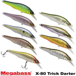 Megabass X-80 Trick Darter 3/8 OZ Assorted Colors Suspending Minnow