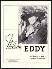 1938 Nelson Eddy photo in Girl of the Golden West music recital booking ad