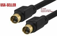 3-FT S-Video Gold-Plated SVHS Mini-Din 4 PIN SVideo M/M Video/Camcorder Cable