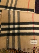"Burberry Cashmere Scarf. 100% Authentic. 12""x 65"""