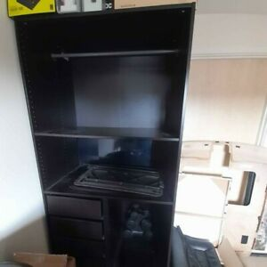 IKEA PAX Black Brown Wardrobe with accessories