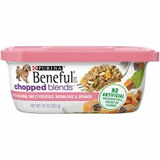 Purina Beneful Wet Dog Food, Chopped Blends With Salmon - (8) 10 Oz. Tubs