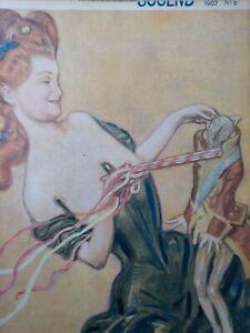 JUGEND, 6-1907. Jugendstil. Lustige Faschings-Nummer, Erotik