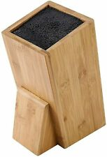 Bamboo Universal Knife Block - Knife Holder - Slotless Cutlery Storage Caddy