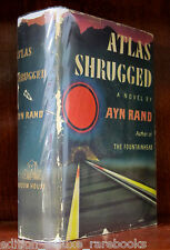 ATLAS SHRUGGED Ayn Rand 1959 FIRST EDITION 1st Ed THE FOUNTAINHEAD HC/DJ Jacket