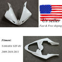 Tail Unpainted Upper Fairing Nose Cowl For YAMAHA YZF R1 09-12 YZF-R1 2010-2011
