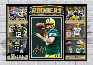 Aaron Rodgers Green Bay Packers A-Rod NFL autograph poster print signed #173
