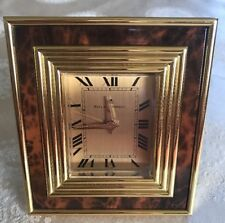 RARE! Vintage Brass-MATTHEW NORMAN 8 DAY SWISS ALARM MANUAL WIND Works! Great!