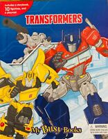 Brand New Transformer My Busy Book + 10 Character Figurines Christmas Gift Kids