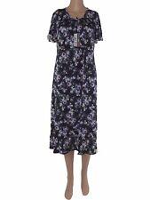 tea dal conte donna abito vestito blu floreale stretch made italy taglia 48 xl