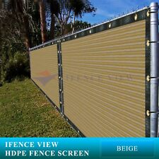 Ifenceview 4'x50' Beige Fence Privacy Screen Mesh for Construction Yard Garden