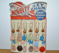 Vintage NOVELTY KEY CHAIN Store Display 1950's Toys Celluloid Charms