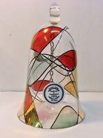 "Stil Romanian Mosiac Glass Bell ""Handmade and Handpainted"" 5 1/2"""