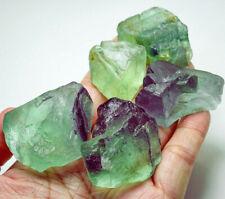 751Ct Natural Green Fluorite Crystal Specimen Rough YVU667