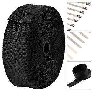 15M Fibreglass Exhaust Heat Wrap Manifold Downpipe High Temp Bandage Tape Roll