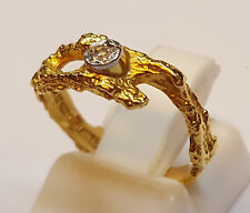 Lapponia Goldring 750 er Gold Ring mit Brillant Gr. 46 Gelbgold 0,02 Ct 18 Karat