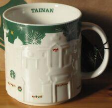 Starbucks Christmas Relief Mug Tainan grün, 16 oz neu mit SKU, Rarität, HTF