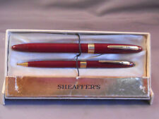 Sheaffer Burgundy Snorkel fountain pen and pencil set in box--M-2 Medium