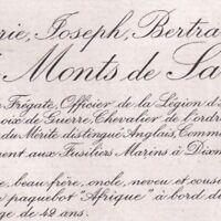 Marie Joseph Bertrand De Monts De Savasse Naufrage Paquebot Afrique 1920 Dixmude