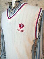 Vintage New England Patriots Chapter NFL ALUMNI Sweater Vest Men's L / XL USA